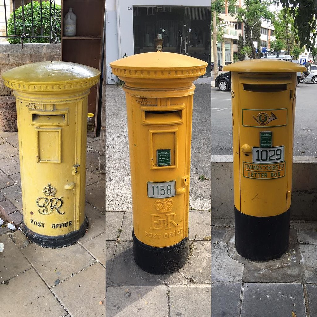 Evolution of the #Cyprus post box! #RoyalMail #Nicosia | Flickr