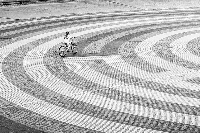 Cycle Curves Rhyl Wales.
