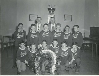 Dickie Moore with Park Ex hockey team in 1956 | by SHPEHS