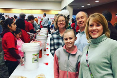 Club member Erik Grunwald brought his family and a prospective Rotarian to #MLKDayTriangle.  14 clubs in District 7710, including our club, donated to make this meal packing event possible. Both 2-hour shifts were full and the event produced its goal of 100K meals.