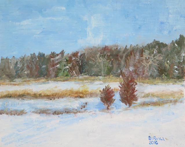 Winter salt Marsh - Hammonasset I