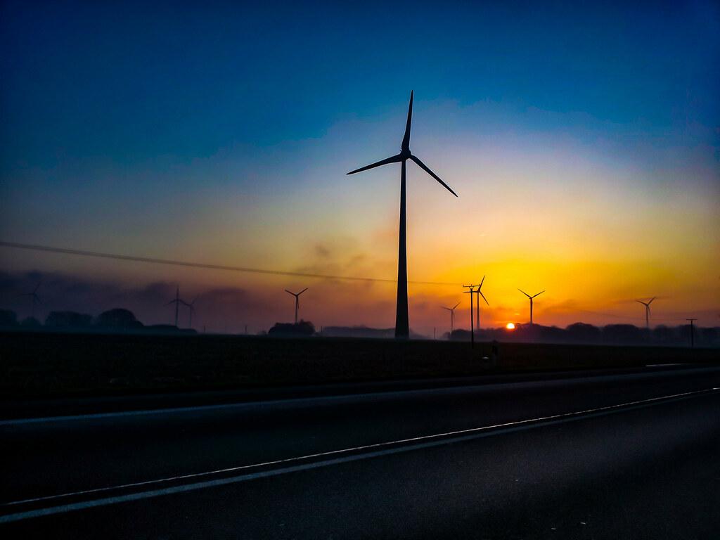 Sunrise, B474 between Coesfeld and Dülmen