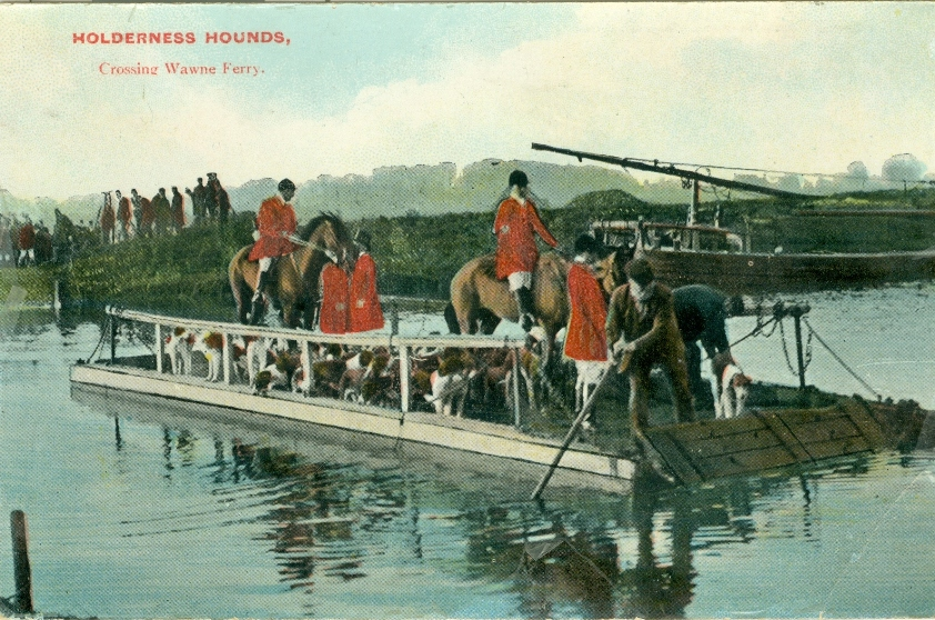 Wawne Ferry & Holderness Hounds 1910 (archive ref PO-1-146-4)
