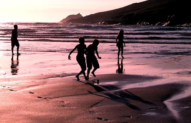 Crantock beach June 14 with Morgan 080