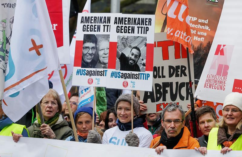 TTIP demonstration in Hanover, Germany