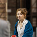 Lucianne McEvoy in rehearsals for The Weir, Roseburn Workshops, The Lyceum