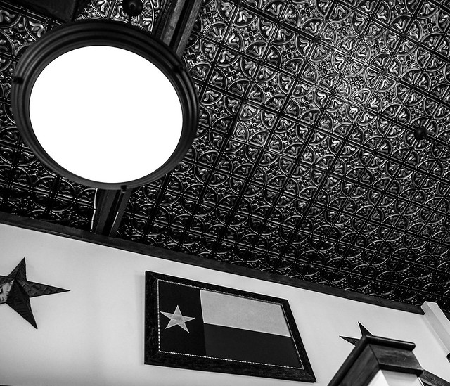 Ceiling wth character.