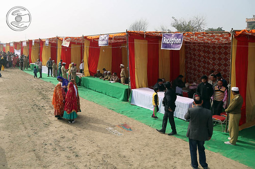 Pavilions in the Samagam Ground