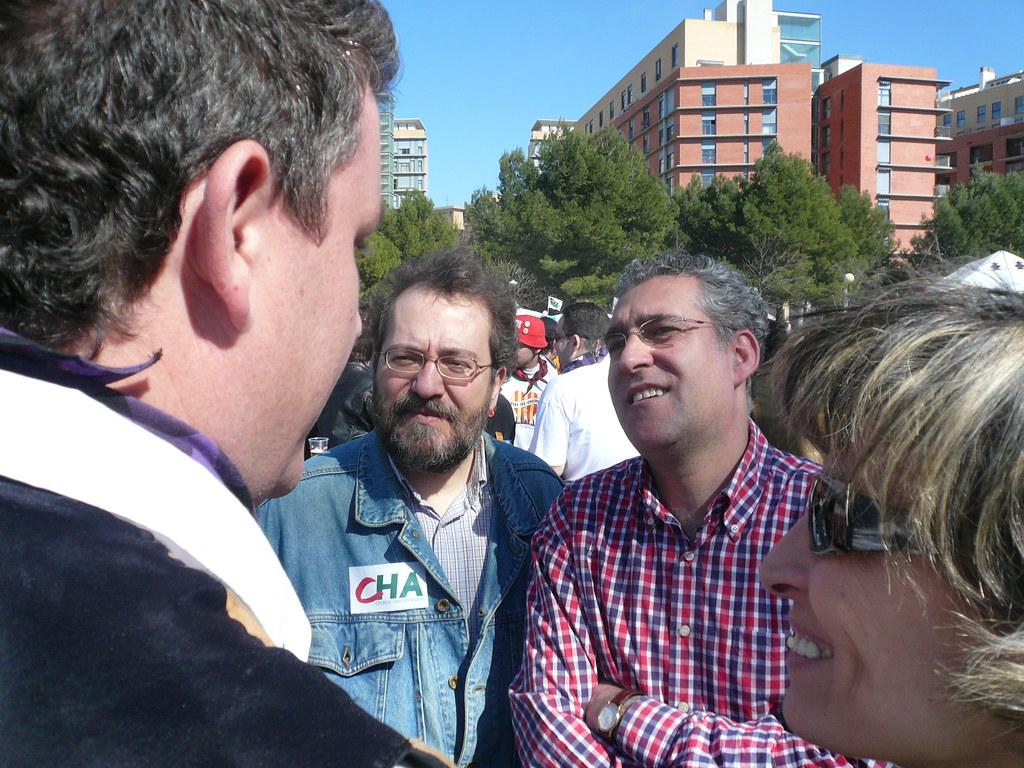 Diputados Chesús Yuste y Chesús Bernal