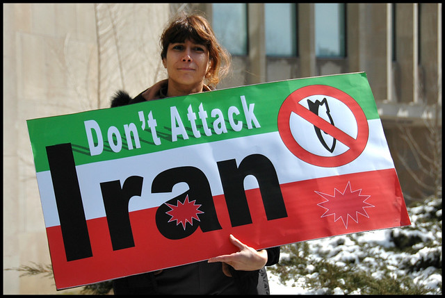 don't attack Iran peace in persia