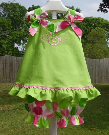 Disco Dots Outfit with Cloth Bows