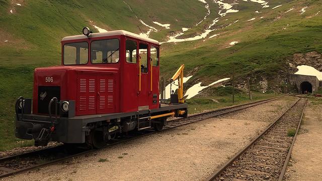 Dampfbahn Furka Bergstrecke Schweiz / Switzerland - TM 506 der DFB