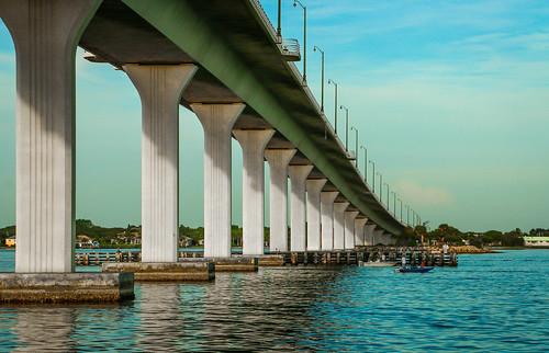 bridge usa seascape water river landscape outside outdoors boat fishing florida stuart bait causeway waterscape boaters stlucieriver stuartcauseway