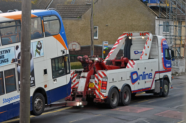 CS09LRS Volvo FM Wrecker Online with Enviro Bus ex Lantern Recovery Specialists