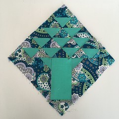 1930 farmers wife quilt block 15 Blossom