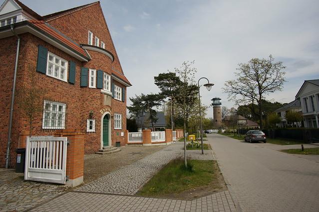 Postamt und Wasserturm, Bad Saarow