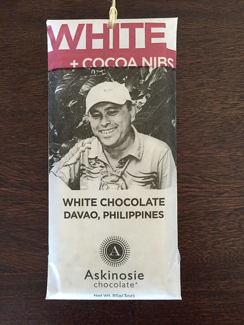 This Askinosie White Cocoa Nibs or white chocolate are actually being sold in the US but originated from Davao, Philippines! A tasty treat and yummy chocolate!