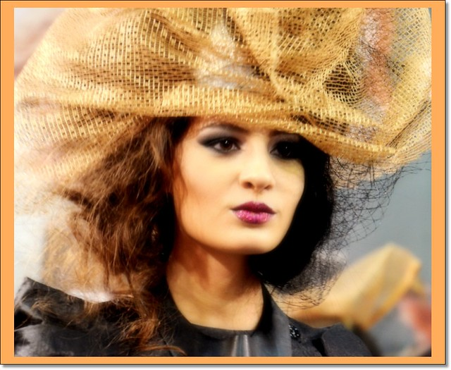 The Lady with orange hat