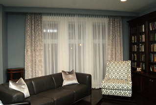 Pinch Pleat drapes and sheers