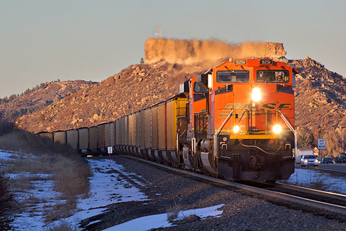 railroad train colorado bnsf castlerock emd coaltrain sd70ace jointline bnsf9251
