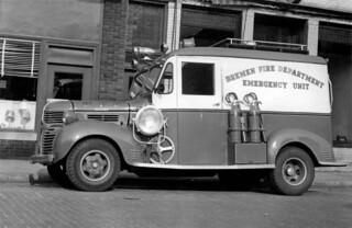 Fire dept - truck - c1950