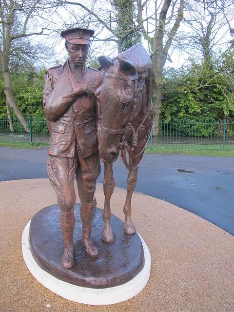 War Horse Memorial, Memorial Park Romsey SWC Walk 58 Mottisfont and Dunbridge to Romsey taken by Karen C.