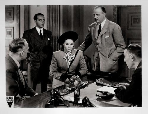 Ingrid Bergman and Louis Calhern in Notorious (1946)