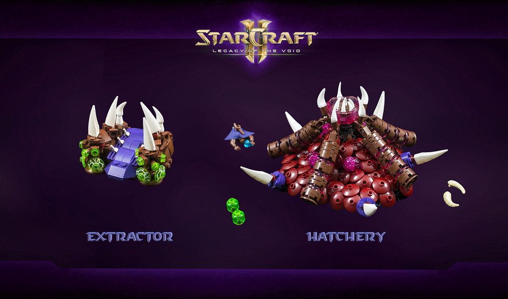 StarCraft II: Zerg Hatchery and Extractor | These are the tw