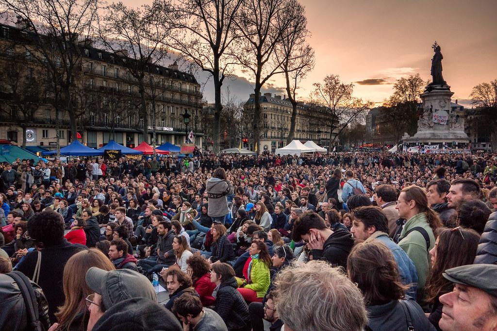 Paris, place de la République #nuitdebout