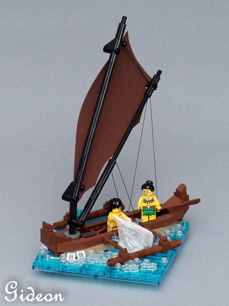 Native Outrigger Canoe