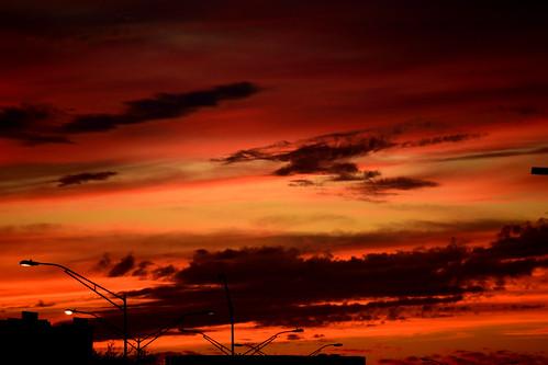 sunset red sky orange sanantonio clouds nikon texas partlycloudy 2016 mostlyclear d5300 55300mmlens