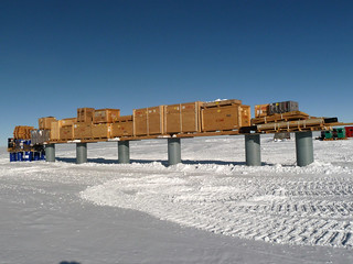 View of the cargo berm | by U.S. Ice Drilling