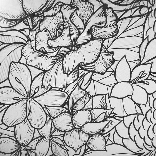 Details. #draw #detail #flowers #doodle #illustration #ink #photoshop #pen #digital #digitalart #digitalpainting #instaart #instaink #instadraw