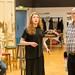 Kirsty MacLaren, Meghan Tyler and Ron Donachie in rehearsals for The Crucible, Lyceum Theatre
