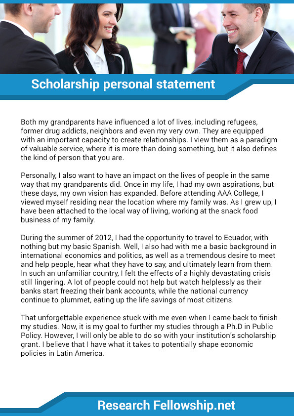 Scholarship personal statement sample | If you want the best