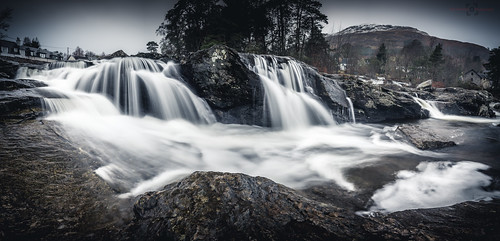 canon dochart landscape leefilters longexposure mountain panorama perthshire rock scotland snow stitch water waterfall winter