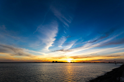 Sunset from the Surfside Jetty near Freeport, Texas | by Tom Fowler LJTX