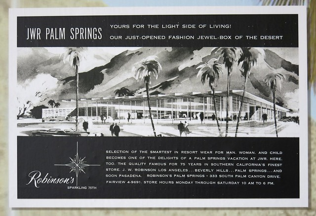Robinson's Grand Opening Advert - Palm Springs, CA