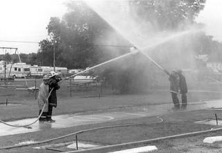 Fire dept - waterball - Oktoberfest 1985