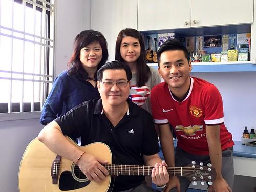 Group guitar lessons Singapore Fennie Jonathan Nicolette
