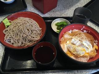 Katsu don and mori soba (cold soba) at Myodai Fuji Soba, Yaesu   by nakashi