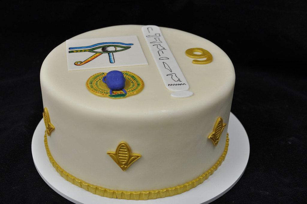 Wondrous Egyptian Birthday Cake Eye Of Horus Scarab Beetle And Nam Flickr Funny Birthday Cards Online Necthendildamsfinfo
