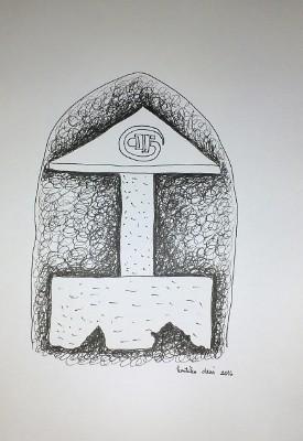 Kartika dewi situs 1 25x20cm drawing pen on paper 2016