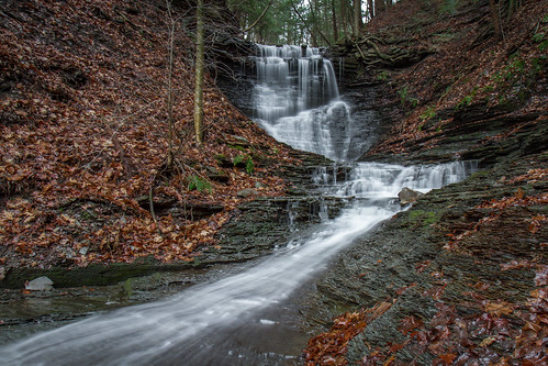longexposure ny newyork nature water beautiful leaves forest landscape outside outdoors waterfall hiking scenic erosion adventure flowing nys westernnewyork wny stateforest countylinefalls dandangler