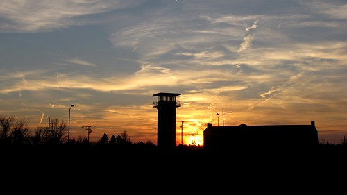 county blue sunset red sky orange sun white tower abandoned set evening virginia early closed december ben web towers guard sunsets prison va jail fairfax facility setting corrections abandonment prisons jails correction redevelopment correctional lorton 2015 reformatory redeveloping lortonreformatory schumin schuminweb
