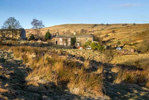 uk morning england sun barn sunrise canon landscape golden britain farm hill cottage sunny lancashire hills explore moors moor goldenhour pennines moorland rossendale helmshore 600d haslingden explored inexplore johnhartley musbury johnners61