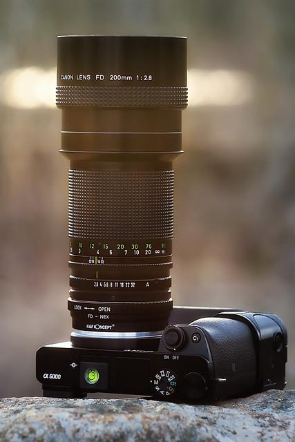 CANON nFD 200mm ƒ/2.8 II IF on SONY ⍺6000