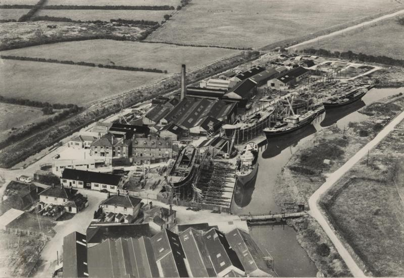 Aerial view of Grovehill shipyard 1950 (archive ref DDX1235-2-3)