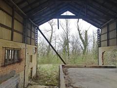 Remains of  old transportation system of brick factory 'Ciglane Zagreb'