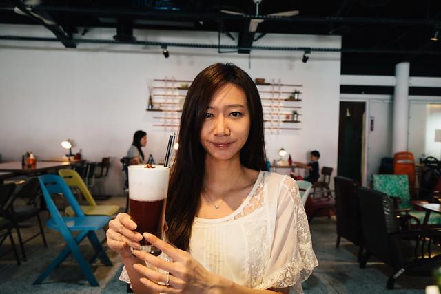 GIRL WITH ROSE MILK TEA